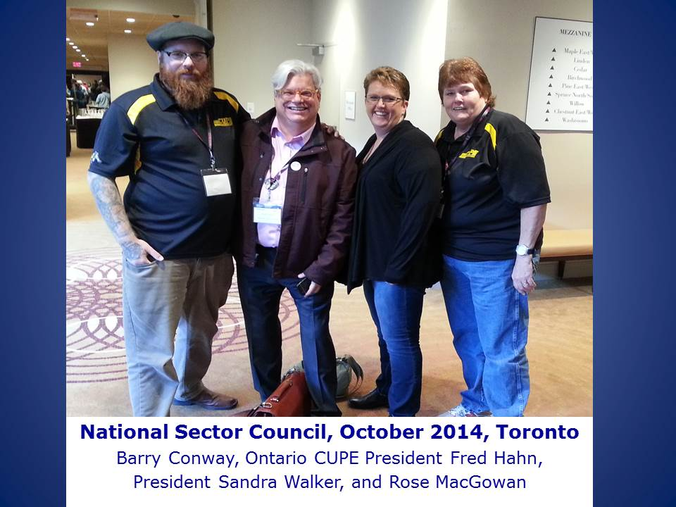 National Sector Council, October 2014