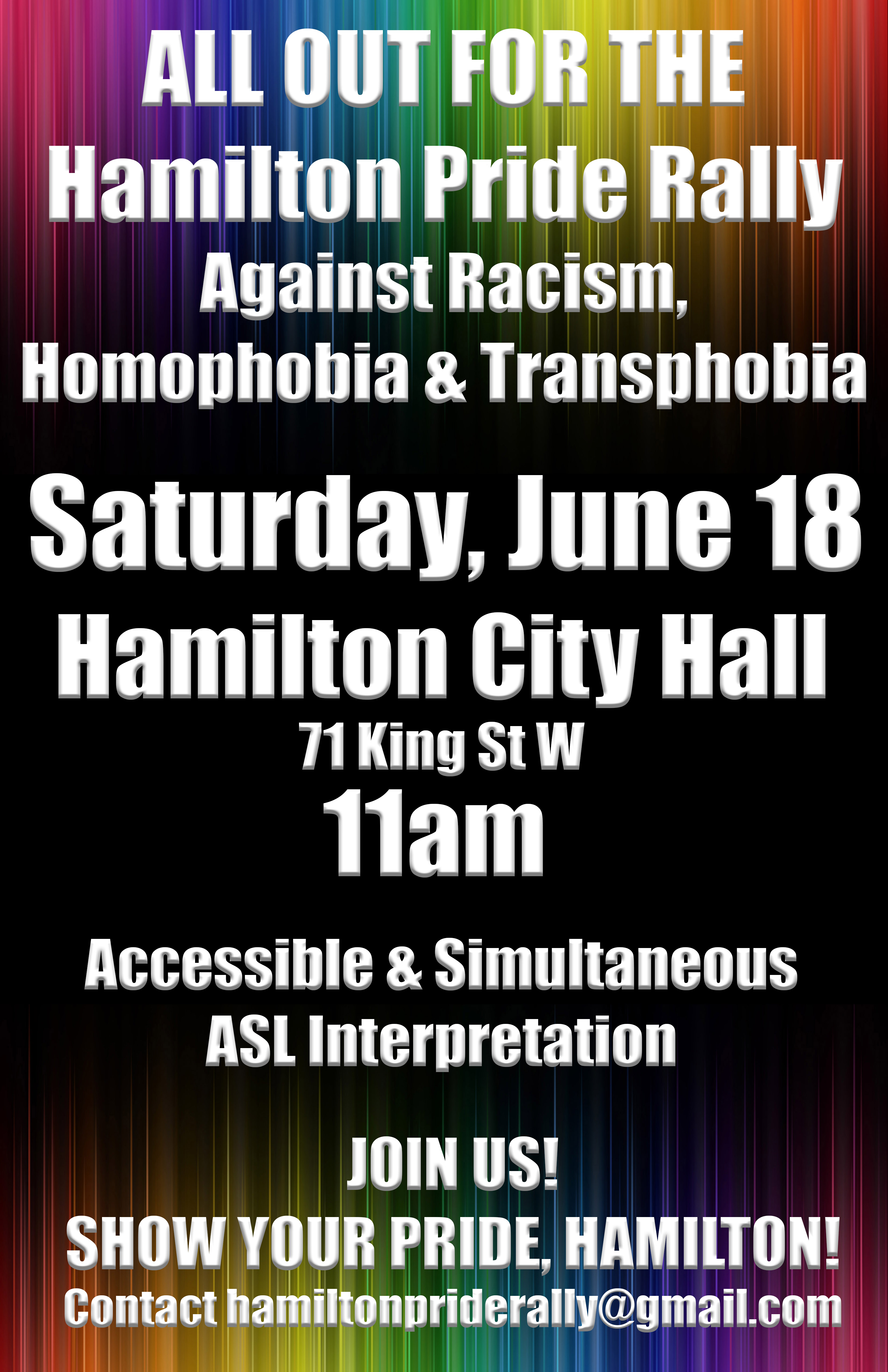 Hamilton Pride Rally 2016